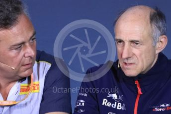 World © Octane Photographic Ltd. Formula 1 - Canadian GP – Friday FIA Team Press Conference. Mario Isola – Pirelli Head of Car Racing and Franz Tost – Team Principal of Scuderia Toro Rosso. Circuit de Gilles Villeneuve, Montreal, Canada. Friday 7th June 2019.