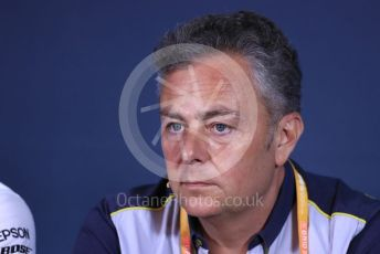 World © Octane Photographic Ltd. Formula 1 - Canadian GP – Friday FIA Team Press Conference. Mario Isola – Pirelli Head of Car Racing. Circuit de Gilles Villeneuve, Montreal, Canada. Friday 7th June 2019.