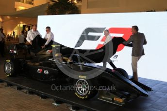 World © Octane Photographic Ltd. Formula 1 – Abu Dhabi GP - Paddock. 2019 FIA F3 car lauch. Yas Marina Circuit, Abu Dhabi. Thursday 22nd November 2018.