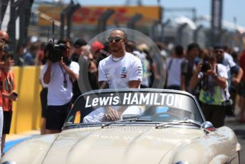 World © Octane Photographic Ltd. Formula 1 – French GP. Drivers Parade. Mercedes AMG Petronas Motorsport AMG F1 W10 EQ Power+ - Lewis Hamilton. Paul Ricard Circuit, La Castellet, France. Sunday 23rd June 2019.