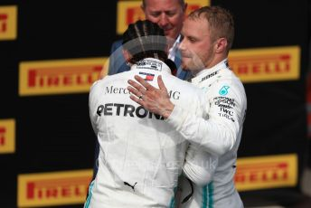 World © Octane Photographic Ltd. Formula 1 – French GP. Podium. Mercedes AMG Petronas Motorsport AMG F1 W10 EQ Power+ - Lewis Hamilton and Valtteri Bottas. Paul Ricard Circuit, La Castellet, France. Sunday 23rd June 2019.