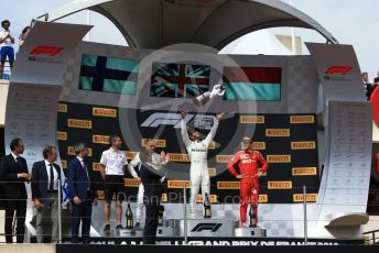 World © Octane Photographic Ltd. Formula 1 – French GP. Podium. Mercedes AMG Petronas Motorsport AMG F1 W10 EQ Power+ - Lewis Hamilton,  Valtteri Bottas and Scuderia Ferrari SF90 – Charles Leclerc. Paul Ricard Circuit, La Castellet, France. Sunday 23rd June 2019.