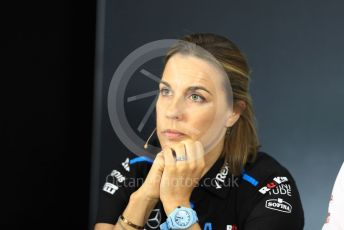 World © Octane Photographic Ltd. Formula 1 - French GP – Friday FIA Team Press Conference. Claire Williams - Deputy Team Principal of ROKiT Williams Racing. Paul Ricard Circuit, La Castellet, France. Friday 21st June 2019.