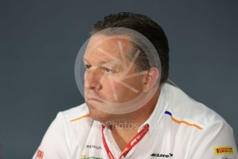 World © Octane Photographic Ltd. Formula 1 - French GP – Friday FIA Team Press Conference. Zak Brown - Executive Director of McLaren Technology Group. Paul Ricard Circuit, La Castellet, France. Friday 21st June 2019.