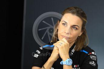 World © Octane Photographic Ltd. Formula 1 - French GP – Friday FIA Team Press Conference. Claire Williams - Deputy Team Principal of ROKiT Williams Racing. Paul Ricard Circuit, La Castellet, France. Friday 21st June 2019.