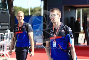 World © Octane Photographic Ltd. Formula 1 – French GP. Paddock. Scuderia Toro Rosso STR14 – Daniil Kvyat. Paul Ricard Circuit, La Castellet, France. Thursday 20th June 2019.
