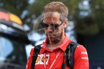 World © Octane Photographic Ltd. Formula 1 – French GP. Paddock. Scuderia Ferrari SF90 – Sebastian Vettel. Paul Ricard Circuit, La Castellet, France. Thursday 20th June 2019.