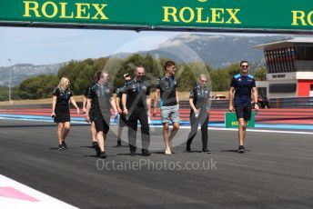 World © Octane Photographic Ltd. Formula 1 – French GP. Track walk. ROKiT Williams Racing FW 42 – George Russell and Nicholas Latifi. Paul Ricard Circuit, La Castellet, France. Thursday 20th June 2019.