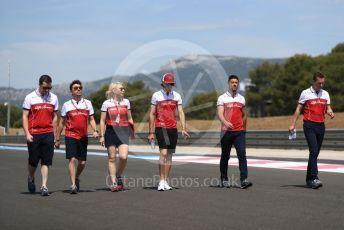 World © Octane Photographic Ltd. Formula 1 – French GP. Track Walk. Alfa Romeo Racing C38 – Antonio Giovinazzi. Paul Ricard Circuit, La Castellet, France. Thursday 20th June 2019.