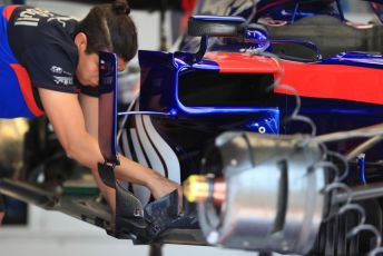 World © Octane Photographic Ltd. Formula 1 – French GP. Pit Lane. Scuderia Toro Rosso STR14. Paul Ricard Circuit, La Castellet, France. Thursday 20th June 2019.