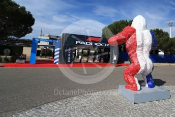 World © Octane Photographic Ltd. Formula 1 – French GP. Pit Lane. Richard Orlinski - Gorilla. Paul Ricard Circuit, La Castellet, France. Thursday 20th June 2019.