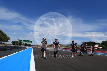 World © Octane Photographic Ltd. Formula 1 – French GP. Track Walk. SportPesa Racing Point RP19 – Lance Stroll. Paul Ricard Circuit, La Castellet, France. Thursday 20th June 2019.
