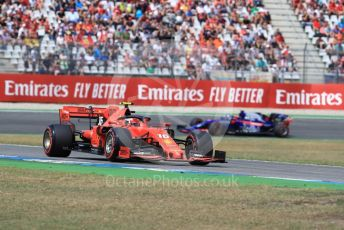 World © Octane Photographic Ltd. Formula 1 – German GP - Qualifying. Scuderia Ferrari SF90 – Charles Leclerc and Scuderia Toro Rosso STR14 – Daniil Kvyat. Hockenheimring, Hockenheim, Germany. Saturday 27th July 2019.