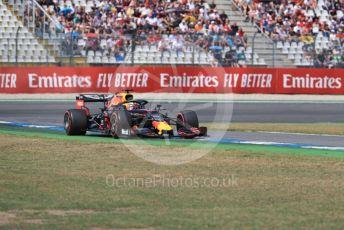 World © Octane Photographic Ltd. Formula 1 – German GP - Qualifying. Aston Martin Red Bull Racing RB15 – Max Verstappen. Hockenheimring, Hockenheim, Germany. Saturday 27th July 2019.