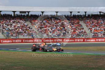 World © Octane Photographic Ltd. Formula 1 – German GP - Qualifying. Aston Martin Red Bull Racing RB15 – Max Verstappen and ROKiT Williams Racing FW42 – Robert Kubica. Hockenheimring, Hockenheim, Germany. Saturday 27th July 2019.