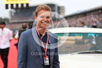 World © Octane Photographic Ltd. Formula 1 – German GP - Drivers Parade. Nico Rosberg by Lewis Hamilton's car. Hockenheimring, Hockenheim, Germany. Sunday 28th July 2019.