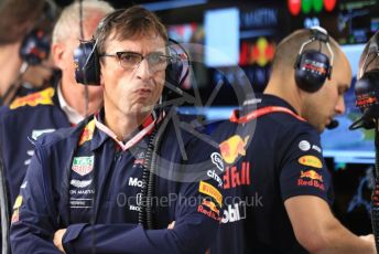 World © Octane Photographic Ltd. Formula 1 - German GP - Paddock. Pierre Wache – Technical Director at Red Bull Racing. Hockenheimring, Hockenheim, Germany. Sunday 28th July 2019.