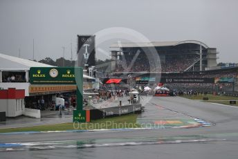 World © Octane Photographic Ltd. Formula 1 – German GP - Grid. The gris form up in the wet. Hockenheimring, Hockenheim, Germany. Sunday 28th July 2019.