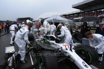 World © Octane Photographic Ltd. Formula 1 – German GP - Grid. Mercedes AMG Petronas Motorsport AMG F1 W10 EQ Power+ - Valtteri Bottas. Hockenheimring, Hockenheim, Germany. Sunday 28th July 2019.