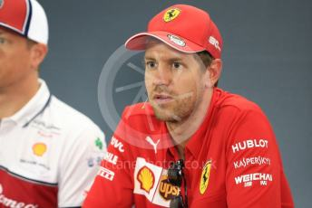 World © Octane Photographic Ltd. Formula 1 – German GP. FIA Drivers Press Conference. Scuderia Ferrari SF90 – Sebastian Vettel. Hockenheimring, Hockenheim, Germany. Thursday 25th July 2019.