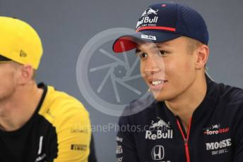 World © Octane Photographic Ltd. Formula 1 – German GP. FIA Drivers Press Conference. Scuderia Toro Rosso – Alexander Albon. Hockenheimring, Hockenheim, Germany. Thursday 25th July 2019.