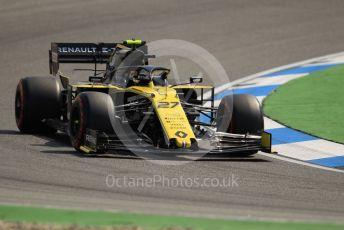World © Octane Photographic Ltd. Formula 1 – German GP - Practice 1. Renault Sport F1 Team RS19 – Nico Hulkenberg. Hockenheimring, Hockenheim, Germany. Friday 26th July 2019.