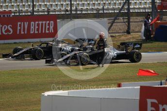 World © Octane Photographic Ltd. Formula 1 – German GP - Practice 1. Rich Energy Haas F1 Team VF19 – Kevin Magnussen and Romain Grosjean. Hockenheimring, Hockenheim, Germany. Friday 26th July 2019.