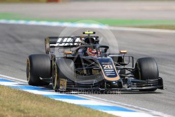 World © Octane Photographic Ltd. Formula 1 – German GP - Practice 2. Rich Energy Haas F1 Team VF19 – Kevin Magnussen. Hockenheimring, Hockenheim, Germany. Friday 26th July 2019.