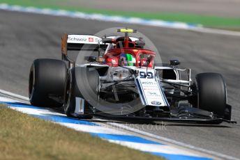 World © Octane Photographic Ltd. Formula 1 – German GP - Practice 2. Alfa Romeo Racing C38 – Antonio Giovinazzi. Hockenheimring, Hockenheim, Germany. Friday 26th July 2019.