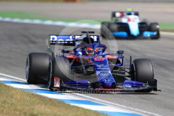 World © Octane Photographic Ltd. Formula 1 – German GP - Practice 2. Scuderia Toro Rosso STR14 – Daniil Kvyat and ROKiT Williams Racing FW42 – Robert Kubica. Hockenheimring, Hockenheim, Germany. Friday 26th July 2019.