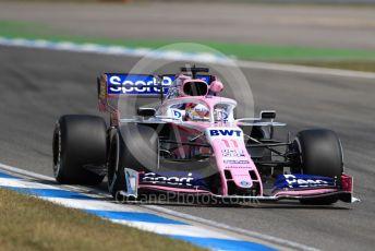 World © Octane Photographic Ltd. Formula 1 – German GP - Practice 2. SportPesa Racing Point RP19 - Sergio Perez. Hockenheimring, Hockenheim, Germany. Friday 26th July 2019.