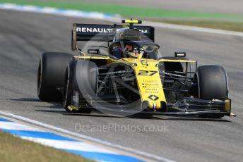 World © Octane Photographic Ltd. Formula 1 – German GP - Practice 2. Renault Sport F1 Team RS19 – Nico Hulkenberg. Hockenheimring, Hockenheim, Germany. Friday 26th July 2019.