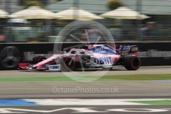 World © Octane Photographic Ltd. Formula 1 – German GP - Practice 3. SportPesa Racing Point RP19 - Sergio Perez. Hockenheimring, Hockenheim, Germany. Saturday 27th July 2019.
