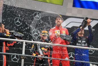 World © Octane Photographic Ltd. Formula 1 – German GP - Podium. Scuderia Ferrari SF90 – Sebastian Vettel. Hockenheimring, Hockenheim, Germany. Sunday 28th July 2019.