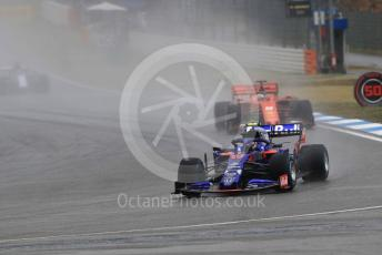 World © Octane Photographic Ltd. Formula 1 – German GP - Race. Scuderia Toro Rosso STR14 – Alexander Albon and Scuderia Ferrari SF90 – Sebastian Vettel. Hockenheimring, Hockenheim, Germany. Sunday 28th July 2019.