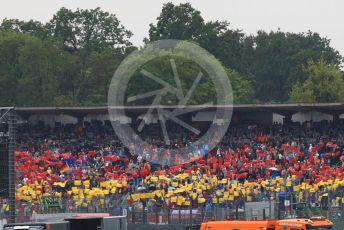 World © Octane Photographic Ltd. Formula 1 – German GP - Race. German flag display in the main grandstand during the national anthem. Hockenheimring, Hockenheim, Germany. Sunday 28th July 2019.