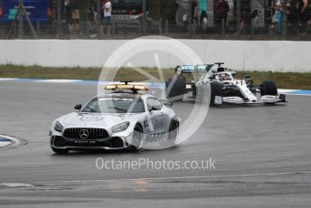 World © Octane Photographic Ltd. Formula 1 – German GP - Race. Mercedes AMG GTs Safety car ahead of Mercedes AMG Petronas Motorsport AMG F1 W10 EQ Power+ - Lewis Hamilton. Hockenheimring, Hockenheim, Germany. Sunday 28th July 2019.