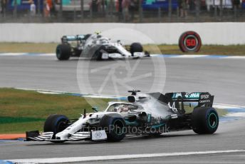 World © Octane Photographic Ltd. Formula 1 – German GP - Race. Mercedes AMG Petronas Motorsport AMG F1 W10 EQ Power+ - Lewis Hamilton and Valtteri Bottas. Hockenheimring, Hockenheim, Germany. Sunday 28th July 2019.