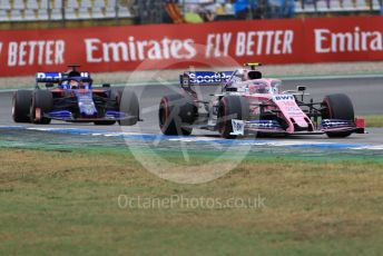World © Octane Photographic Ltd. Formula 1 – German GP - Race. SportPesa Racing Point RP19 – Lance Stroll and Scuderia Toro Rosso STR14 – Alexander Albon. Hockenheimring, Hockenheim, Germany. Sunday 28th July 2019.