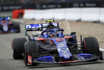 World © Octane Photographic Ltd. Formula 1 – German GP - Race. Scuderia Toro Rosso STR14 – Alexander Albon and Daniil Kvyat. Hockenheimring, Hockenheim, Germany. Sunday 28th July 2019.