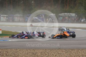World © Octane Photographic Ltd. Formula 1 – German GP - Race. Scuderia Toro Rosso STR14 – Daniil Kvyat and Alexander Albon with McLaren MCL34 – Lando Norris and ROKiT Williams Racing FW42 – Robert Kubica. Hockenheimring, Hockenheim, Germany. Sunday 28th July 2019.