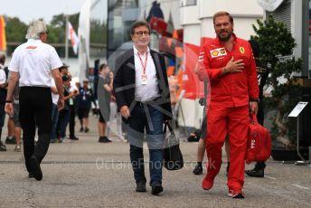 World © Octane Photographic Ltd. Formula 1 - German GP - Practice 3. Louis Camilleri - CEO of Ferrari and former Chairman of Philip Morris International. Hockenheimring, Hockenheim, Germany. Saturday 27th July 2019.