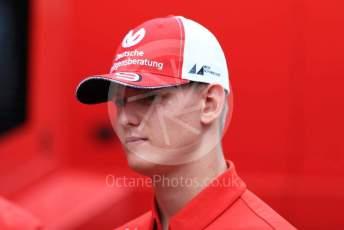 World © Octane Photographic Ltd. Formula 1 – German GP - Paddock. Scuderia Ferrari Junior Driver – Mick Schumacher. Hockenheimring, Hockenheim, Germany. Saturday 27th July 2019.