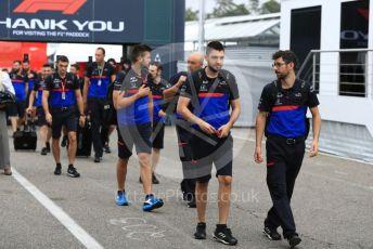 World © Octane Photographic Ltd. Formula 1 – German GP - Paddock. Scuderia Toro Rosso team arrive. Hockenheimring, Hockenheim, Germany. Sunday 28th July 2019.