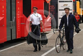 World © Octane Photographic Ltd. Formula 1 – German GP - Paddock. Mercedes AMG Petronas Motorsport AMG F1 W10 EQ Power+ team in retro uniform. Hockenheimring, Hockenheim, Germany. Sunday 28th July 2019.