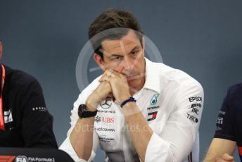 World © Octane Photographic Ltd. Formula 1 - German GP – Friday FIA Team Press Conference. Toto Wolff - Executive Director & Head of Mercedes - Benz Motorsport. Hockenheimring, Hockenheim, Germany. Friday 26th July 2019.