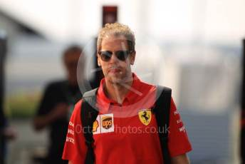 World © Octane Photographic Ltd. Formula 1 – German GP - Paddock. Scuderia Ferrari SF90 – Sebastian Vettel. Hockenheimring, Hockenheim, Germany. Thursday 25th July 2019.