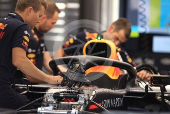 World © Octane Photographic Ltd. Formula 1 – German GP - Paddock. Aston Martin Red Bull Racing RB15. Hockenheimring, Hockenheim, Germany. Thursday 25th July 2019.