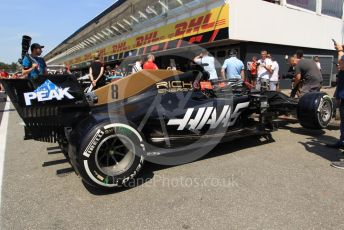 World © Octane Photographic Ltd. Formula 1 – German GP - Paddock. Rich Energy Haas F1 Team VF19 – Romain Grosjean. Hockenheimring, Hockenheim, Germany. Thursday 25th July 2019.