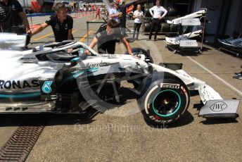 World © Octane Photographic Ltd. Formula 1 – German GP - Paddock. Mercedes AMG Petronas Motorsport AMG F1 W10 EQ Power+. Hockenheimring, Hockenheim, Germany. Thursday 25th July 2019.